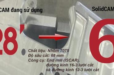 Tăng hiệu suất gia công CNC dễ dàng cho thiết kế SOLIDWORKS và Inventor