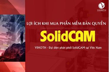 Mua SolidCAM bản quyền có nhiều lợi ích cho người dùng và doanh nghiệp