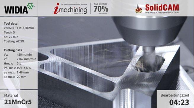 Gia công dao cắt Widia theo công nghệ Imachining của SolidCAM